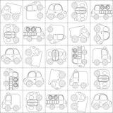 Contour sans joint de véhicules de dessin animé de vecteur photo stock