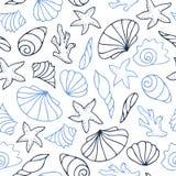 Contour seamless pattern Stock Image