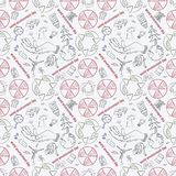 Contour seamless pattern illustration_9_for the design of various objects of human life, theme for world environment day royalty free illustration