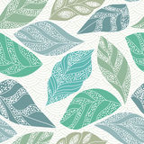 Contour seamless pattern with leaf Stock Photo
