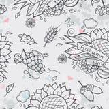 Contour seamless texture autumn theme Royalty Free Stock Photography