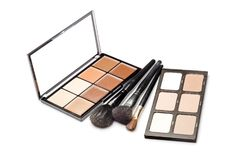 Contour shades and brushes. Two palettes of contour shades and brushes on a white background Stock Image