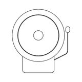 Contour silhouette with fire alarm. Vector illustration Stock Photography
