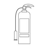 Contour silhouette with fire extinguisher Royalty Free Stock Images