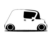 Contour silhouette mini future car Royalty Free Stock Photography