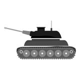 Contour tank car for navy war. Icon,  illustration Royalty Free Stock Photography
