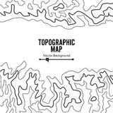 Contour Topographic Map Vector. Geography Wavy Backdrop. Cartography Graphic Concept. Stock Image