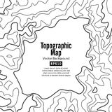 Contour Topographic Map Vector. Geography Wavy Backdrop. Cartography Graphic Concept. Royalty Free Stock Photography