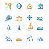 Contour travel icons stock illustration