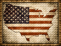 The contour of the U.S.A Stock Photography