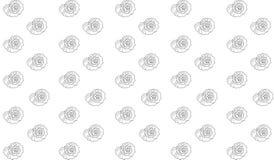 Contour van rapanashells op een witte achtergrond stock illustratie