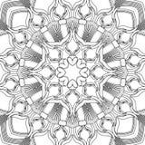 Contour vector naadloos patroon Stock Afbeeldingen