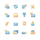 Contour web-mail icons. Color contour web-mail icons on the white background Royalty Free Stock Photos