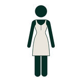 Contour woman dress icon image. Illustration Stock Images