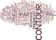The Contour Years Text Background  Word Cloud Concept Stock Photo