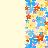 Contoured floral border with forget-me-not Royalty Free Stock Photography