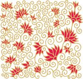 Contoured floral composition in turkish style Stock Images