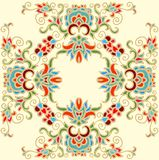Contoured floral frame composition in turkish style Stock Photography