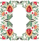 Contoured floral frame composition in turkish style Royalty Free Stock Images