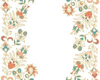Contoured seamless  floral border Stock Image