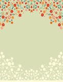 Contoured seamless  floral border Stock Images