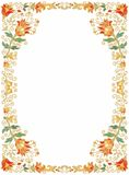 Contoured seamless  floral border Royalty Free Stock Photos