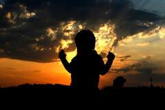 Contouren van een kind Stock Foto's