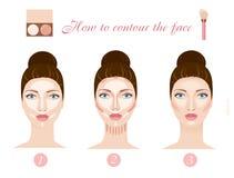 Contouring the face. Vector Stock Photo