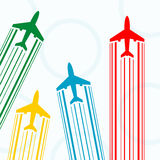 Contours of airplanes with lines Royalty Free Stock Photography
