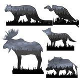 Animals in the dirt vector illustration