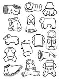 Contours of clothes for dogs Royalty Free Stock Images