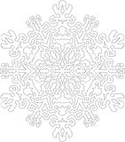 Contours de flocon de neige dans la ligne style mono pour colorer, colorant Photos stock