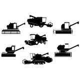 Contours harvesters Stock Photography