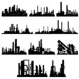 The contours of industrial buildings and structure Stock Image