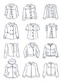 Contours of jackets for girls Royalty Free Stock Photos