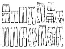 Contours male pants royalty free illustration