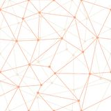 Contours minces oranges géométriques de triangle d'abrégé sur vecteur avec le fond de points Approprié au textile, à l'enveloppe  illustration stock
