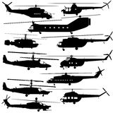 Contours of modern helicopters Royalty Free Stock Images