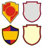 Contours Of Emblems And Coat Of Arms Stock Photography