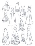 Contours of prom dresses Royalty Free Stock Image