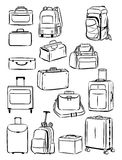 Contours of travel bags Royalty Free Stock Photos