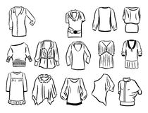Contours of tunics Stock Photo