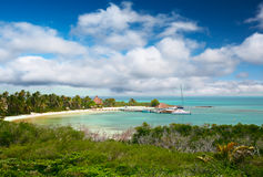 contoy isla Μεξικό παραλιών Στοκ εικόνες με δικαίωμα ελεύθερης χρήσης
