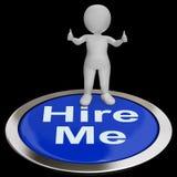 Contráteme las demostraciones Job Applicant Or Freelancer del botón Foto de archivo libre de regalías