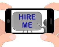 Contráteme los medios del teléfono que solicitan Job Vacancy Fotografía de archivo libre de regalías