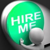Contráteme presionó los medios Job Applicant Or Freelancer Imagen de archivo