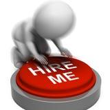 Contráteme presionó los medios Job Candidate Or Contractor Foto de archivo
