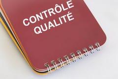 ContrÃ'le DE qualité Stock Afbeelding