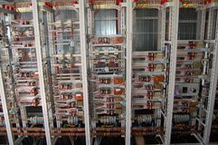 Contrôle électrique de panneau de commutateur Photo libre de droits