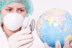 Contrôle de l'état de santé Images libres de droits